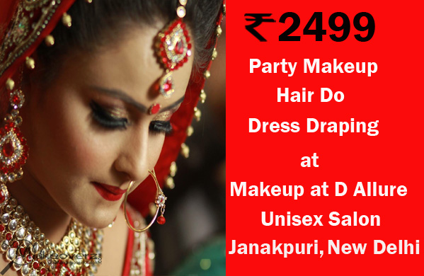 Makeup at D Allure Unisex Salon - Janakpuri