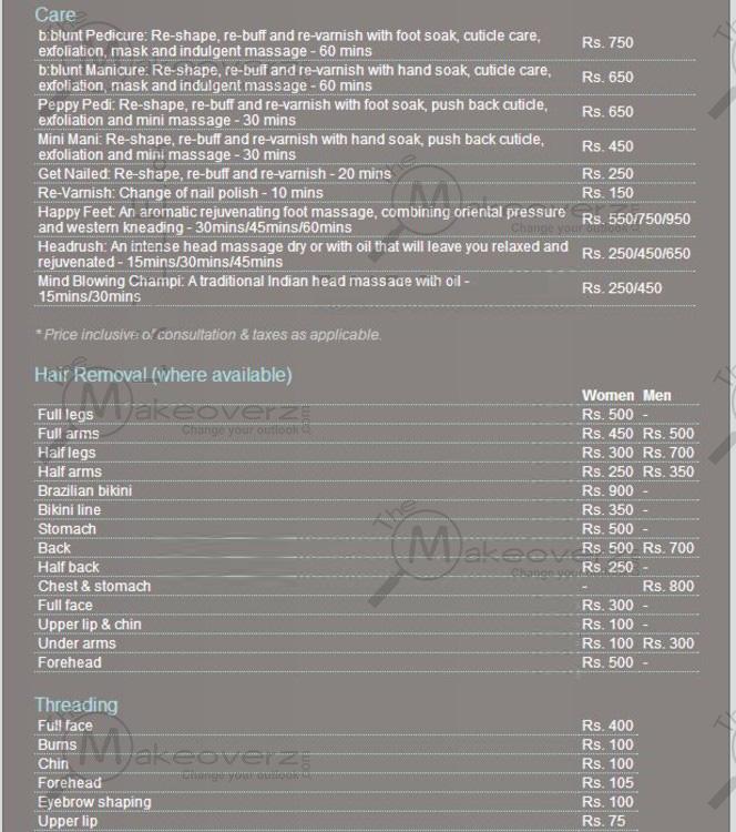 bblunt price list