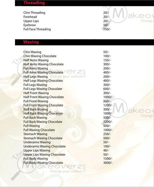 Naturals Hair Cut Price List
