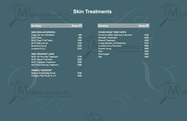 vlcc salon hair cut price list