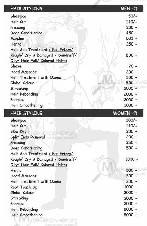 jh hairxpreso hair cut rate list