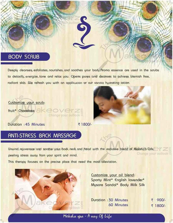 price list of moksha body spa sector 29 gurgaon