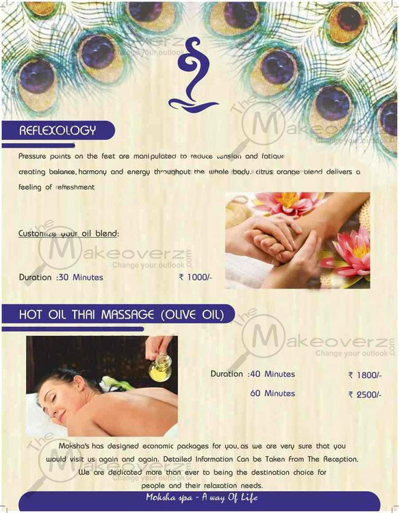 price list of moksha body spa vasant vihar