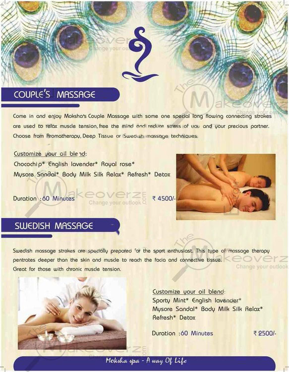 price list of moksha body spa patel nagar