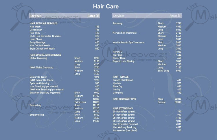 VLCC Hair Care Price List
