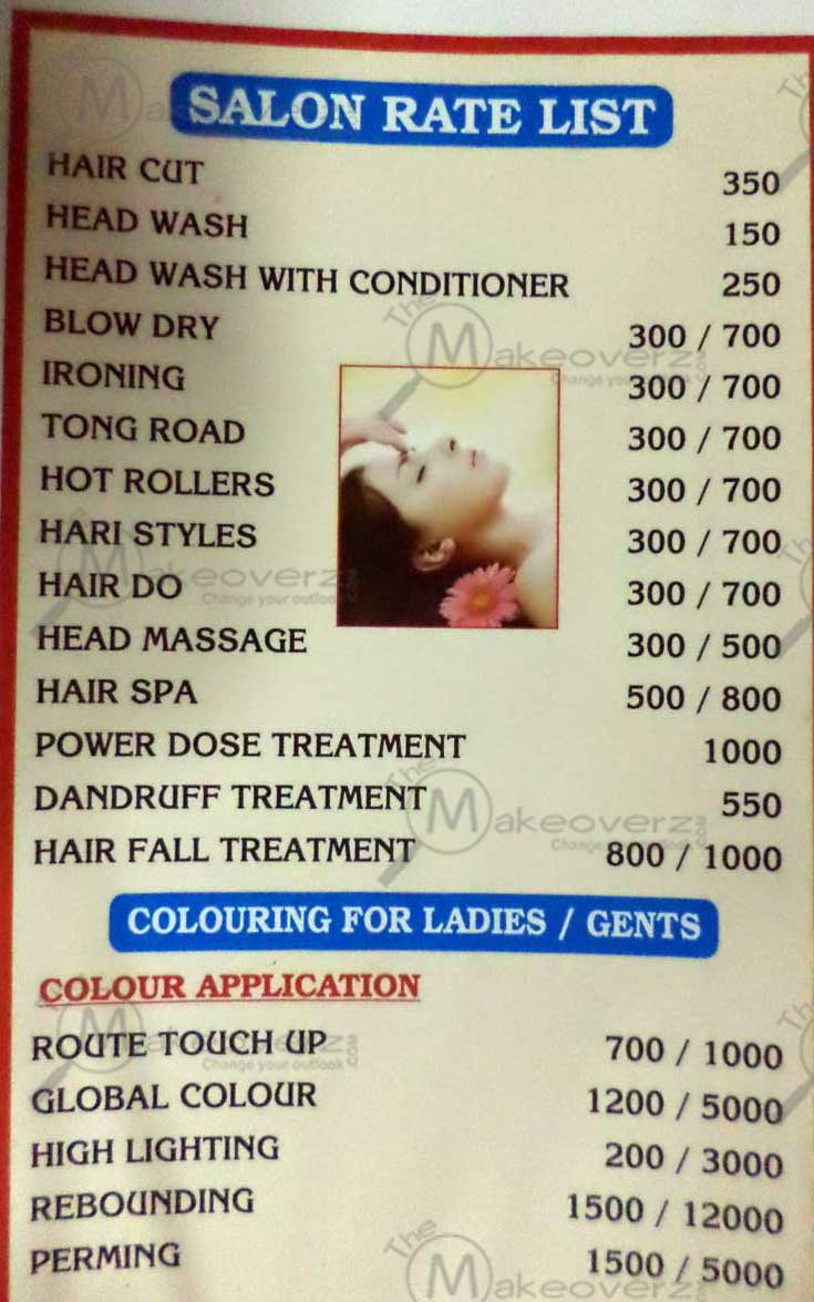 lee salon n spa hair cutting price list