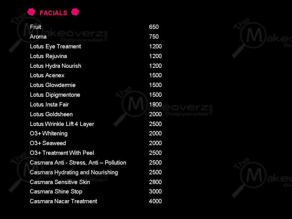 Saibee Dua Makeup Artist Rate plan