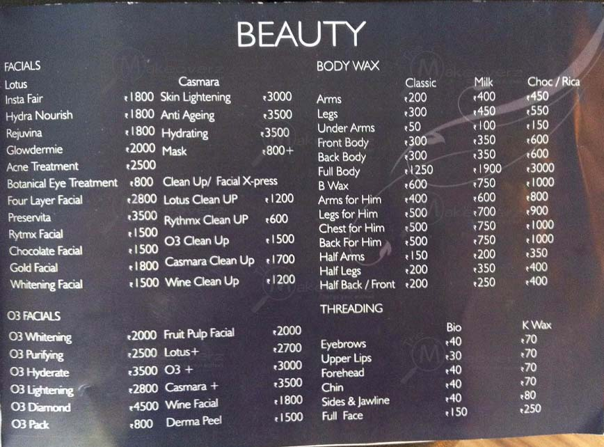 Price list of Layers Unisex Salon - Sohna Road