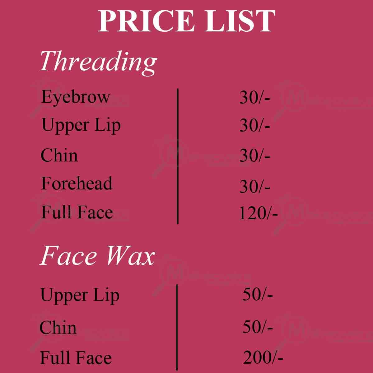 la senorita price list
