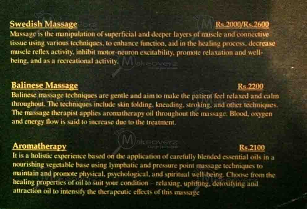 rate list of superb wellness spa gurgaon
