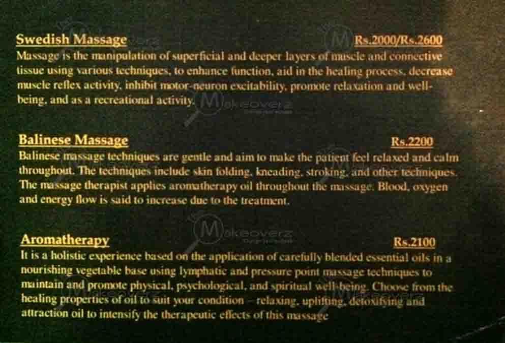 rate list of superb wellness spa gurgaon