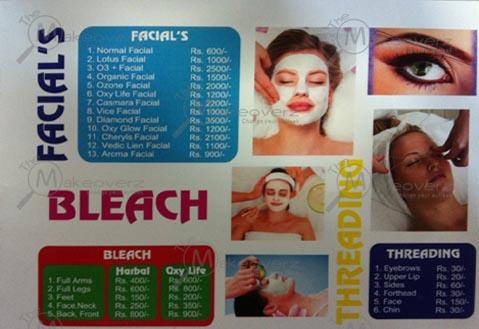 bleach & threading rate list in avion salon
