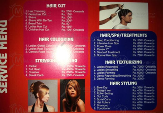 hair cut price list in avion salon