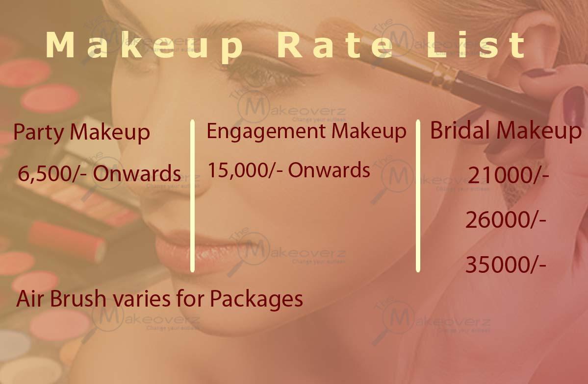 Shama Sharma Professional Makeover Team Rate plan - Dwarka